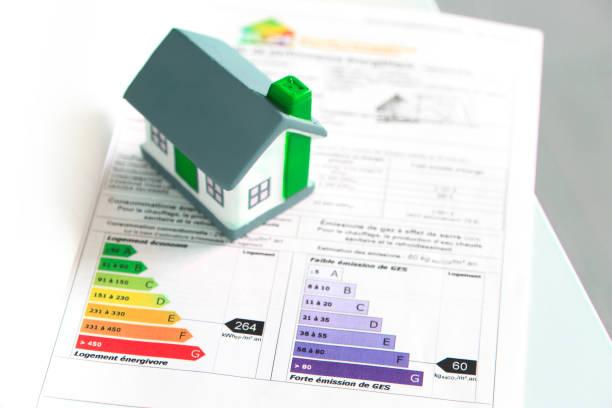 Petite maquette de maison posée sur un audit énergétique